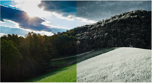 change summer to winter Photoshop tutorial