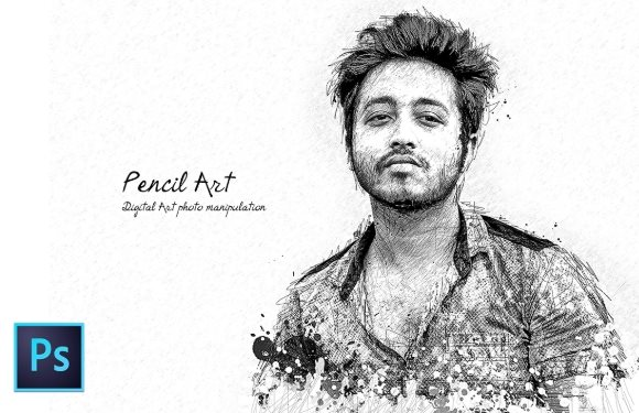 pencil sketch Photoshop tutorial