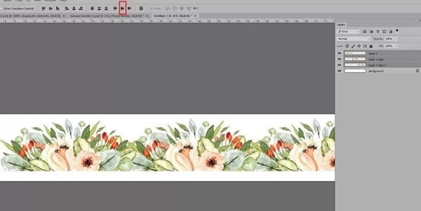 watercolor border photoshop tutorial