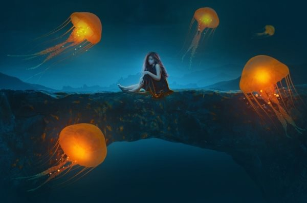 Photoshop jellyfish photomanipulation tutorial
