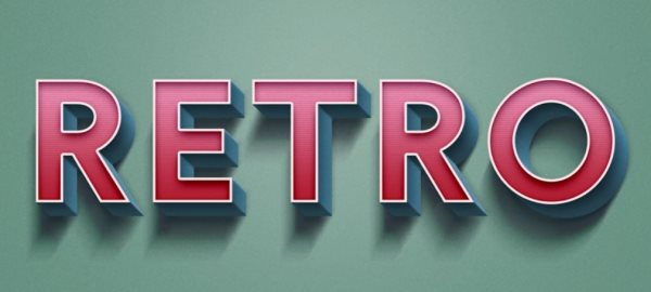 retro text effect tutorial