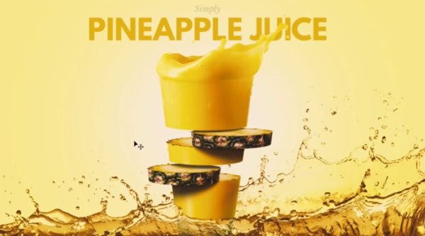 fruit juice composite Photoshop tutorial