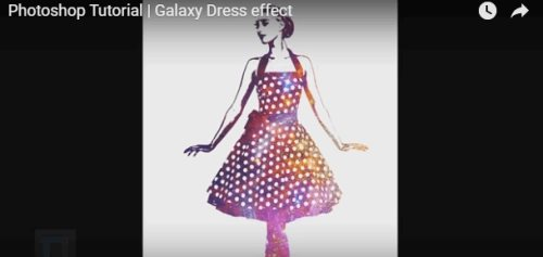 galaxy dress effect Photoshop tutorial