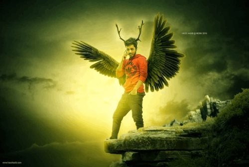 winged man photoshop tutorial