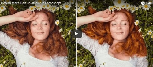 hair color PS tutorial