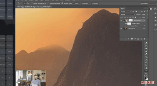 sharpen images in Photoshop