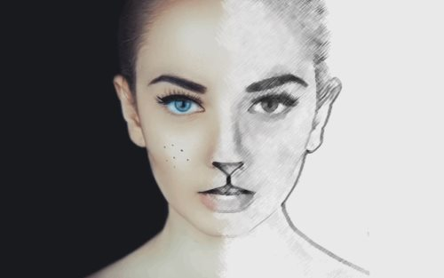 half sketch effect tutorial