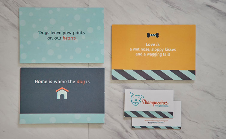 Shampooches print marketing tools