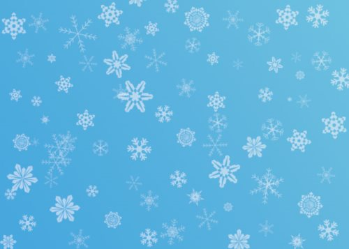 free snowflake brushes