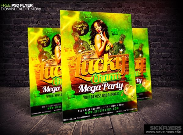 free flyer template st patricks day