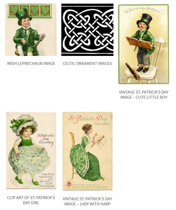 vintage St. Patrick's Day graphics