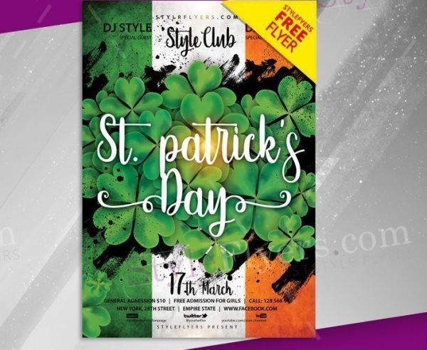 st patrick's day marketing flyer template