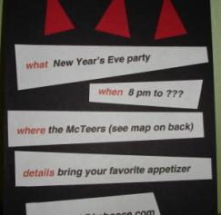 The best New Year invitation cards I've seen