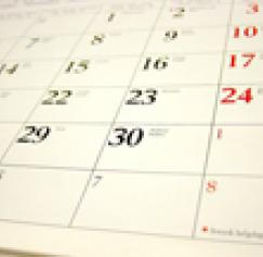 Checklist for Calendar printing