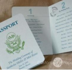 5 Great Passport Wedding Invitation Designs