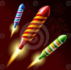 5 Incredible Fireworks Vectors
