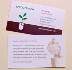 4 Back of the Business Card Ideas