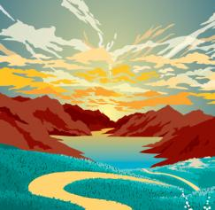 10 Scenic Vector Landscapes