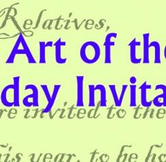 The Art of the Holiday Invitation