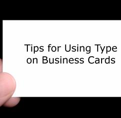 Tips for Using Type on Business Cards: Part 1