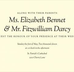 Wedding Fonts: Classic