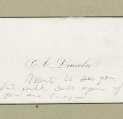 The Real Abraham Lincoln and Wright Brothers Business Cards