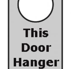 Why Your Door Hanger Sucks