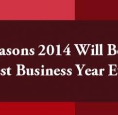30 Reasons 2014 Will Be Your Best Business Year Ever