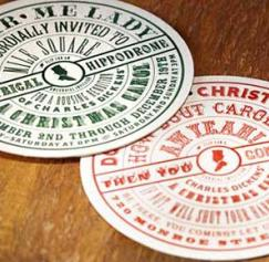 Serve Your Eggnog on Personalized Holiday Coasters