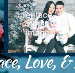 free Christmas photo card templates