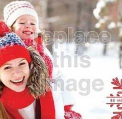 free DIY holiday photo card templates
