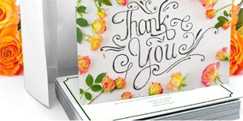 How To Design And Print Your Own Custom Thank You Cards PsPrint Blog - Custom thank you card template