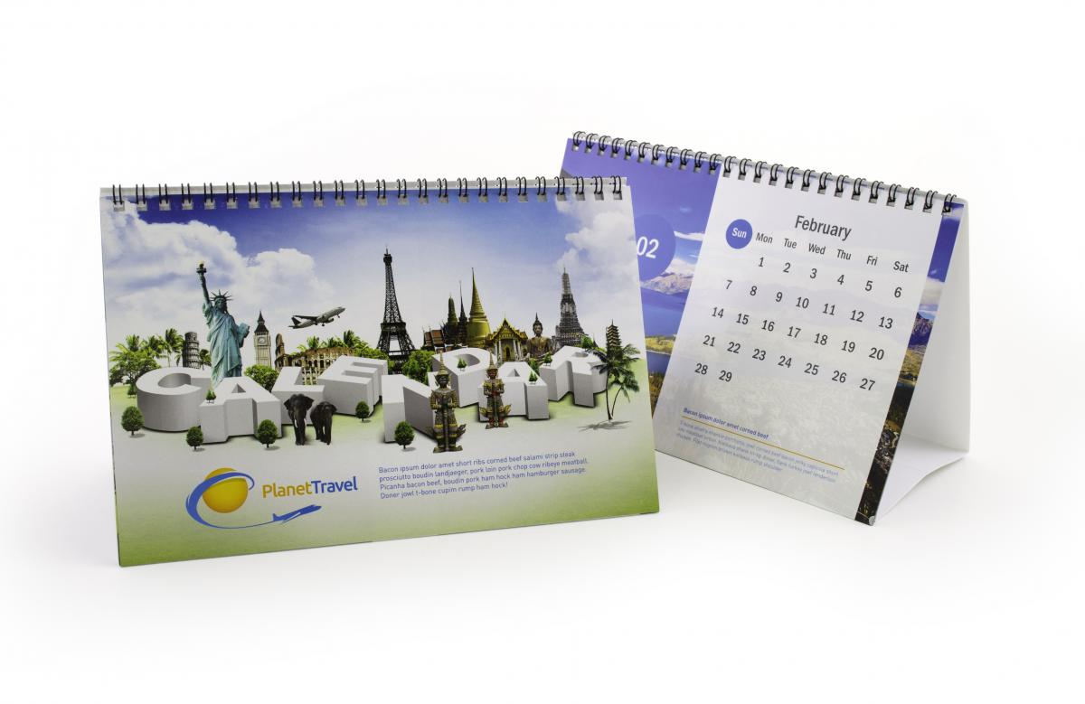 Calendar Ideas For Company : Desk calendar marketing psprint designing