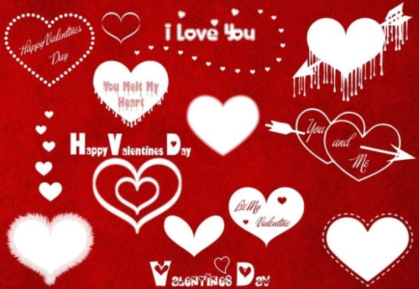 free Valentine's Day Photoshop brushes