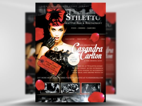 Stiletto Photoshop flyer template