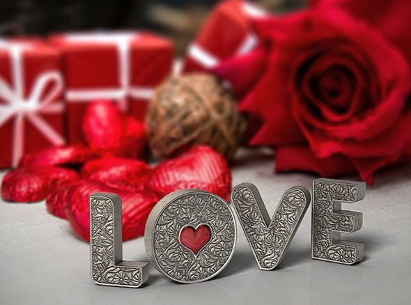free Valentine's day text effect