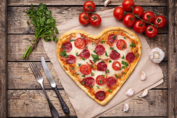 Valentine's Day pizza