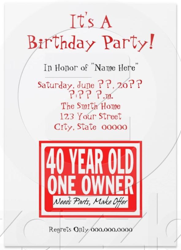 Funny Bday Invites Messages – Nice Birthday Invitations
