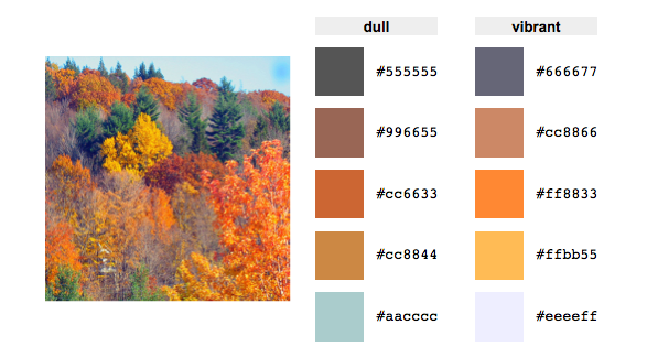 Nature Color Schemes Rgb