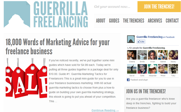 Freelance Blog Guerrilla Marketing Tactics to build your freelance business - _2012-08-01_13-06-31