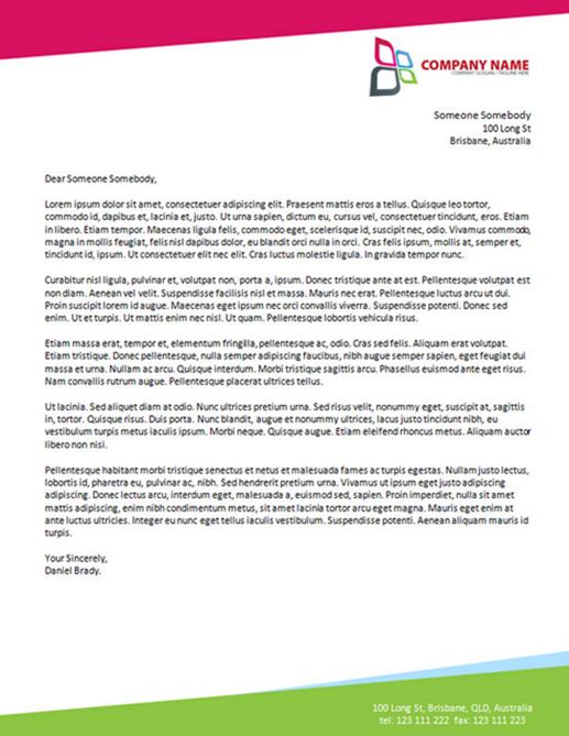 resume letterhead examples 28042017