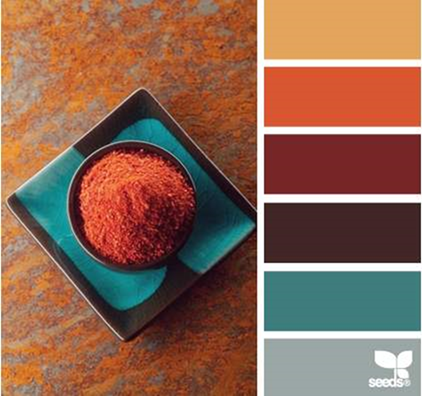 30 thanksgiving color palettes for Pumpkin spice paint living room