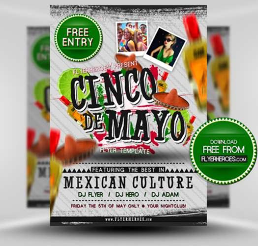 Free Cinco de Mayo flyer template by Flyer Heroes BBWAFzd2