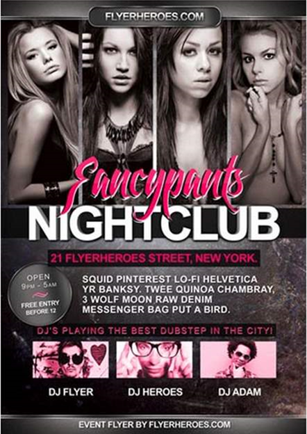 nightclub flyer templates free recet productoseb co