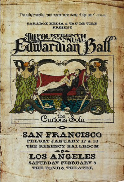 Club card flyer design by PsPrint customer Buck Down for Edwardian Ball